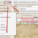 Helden-Verwaltung: Schreibschutz