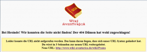 WikiAventurica neue Links